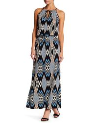 Laundry by Shelli Segal | Blue Printed Maxi Dress (petite) | Lyst