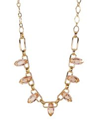 Carolee   Metallic Stone Chain Necklace   Lyst