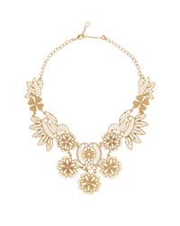 Carolee | Multicolor Nassau Night Open Work Embellished Bib Necklace | Lyst