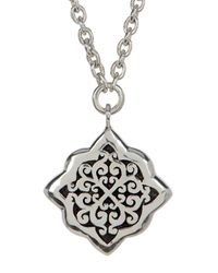Lois Hill - Metallic Sterling Silver Medium Hand Crafted Alhambra Pendant Necklace - Lyst