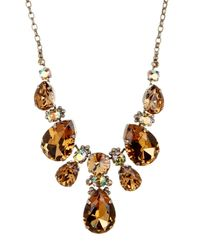 Sorrelli | Metallic Crystal Pear Bib Necklace | Lyst