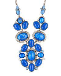 Sorrelli - Blue Semi-precious Stone & Swarovski Crystal Cluster Necklace - Lyst