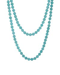 Cara - Blue Long Single Strand Turquoise Bead Necklace - Lyst