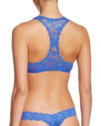 Cosabella - Blue Never Say Never Racie Racerback Bralette - Lyst