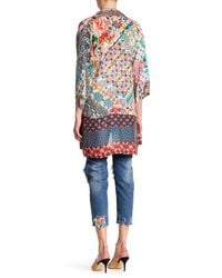 Johnny Was | Multicolor Printed Open Front Cardigan | Lyst