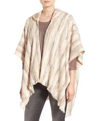 Hinge | Multicolor Stripe Hooded Poncho | Lyst