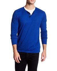 Autumn Cashmere | Blue Hidden Button Up Henley Shirt for Men | Lyst