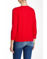 Cable & Gauge - Red Jackie O Cardigan - Lyst