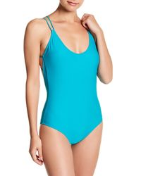Volcom | Blue Simply Solid Strappy One Piece | Lyst