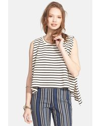 Free People - White Madness Stripe Muscle Tank - Lyst