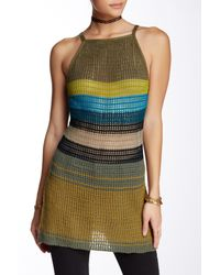 Free People | Green Gossamer Stripe Tank | Lyst