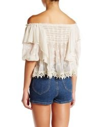 Free People - White Spirit In The Sky Blouse - Lyst