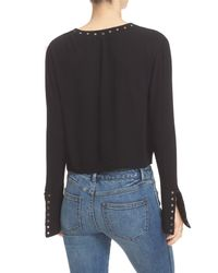 Free People - Black Jump To The Beat Blouse - Lyst