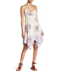Free People   Multicolor Floral Print Dress   Lyst