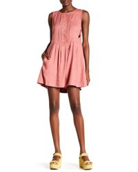 Free People - Pink Moonshine Linen Blend Dress - Lyst