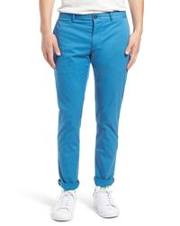 Original Penguin | Blue P55 Slim Fit Stretch Cotton Chino for Men | Lyst