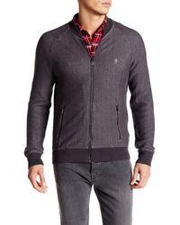 Original Penguin   Gray Herringbone Loop Jacket for Men   Lyst