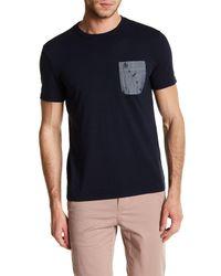 Original Penguin | Blue Chambray Pocket Crew Neck Tee for Men | Lyst
