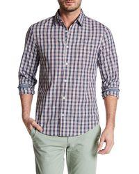 Original Penguin | White Long Sleeve Checkered Slim Fit Shirt for Men | Lyst