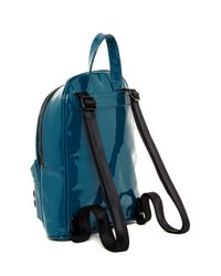 L.A.M.B. - Blue Imen Patent Leather Backpack - Lyst