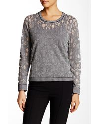 Parker - Gray Robinette Geometric Pullover Sweater - Lyst
