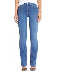 NYDJ | Blue 'billie' Stretch Mini Bootcut Jeans (petite) | Lyst