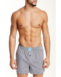 Psycho Bunny | Blue Woven Novelty Boxer for Men | Lyst