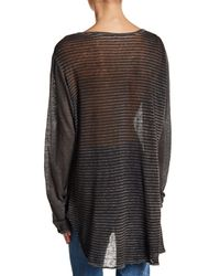 Johnny Was - Multicolor Long Sleeve Oversize Linen Shirt - Lyst