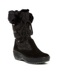 Pajar | Black Paris Faux Fur Lined Boot | Lyst