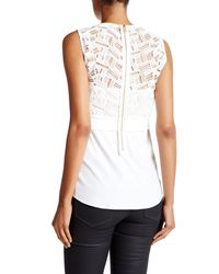 Veronica Beard - White Playa Mixed Media Tank - Lyst