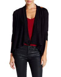 Bobeau | Black One Button Sweater (petite) | Lyst