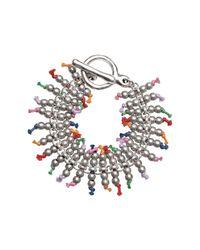 Uno De 50 - Metallic Que Trepa! Multi-color Accented Beaded Toggle Bracelet - Lyst