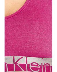 Calvin Klein - Blue 'magnetic Force' Microfiber Bralette - Lyst