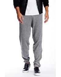 Quinn - Gray Carlyle Cashmere & Genuine Leather Jogger for Men - Lyst