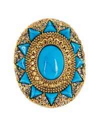 House of Harlow 1960 | Blue Wari Ruins Cocktail Ring - Size 5 | Lyst
