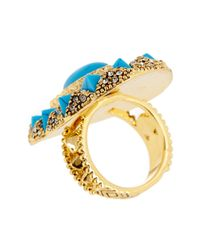 House of Harlow 1960 - Blue Wari Ruins Cocktail Ring - Size 5 - Lyst