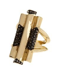 House of Harlow 1960 | Metallic Pave Hematite Defined Art Deco Ring - Size 7 | Lyst