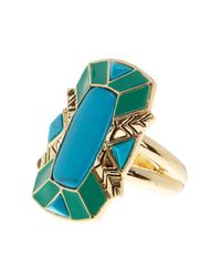 House of Harlow 1960 | Metallic Nile Delta Cocktail Ring - Size 6 | Lyst