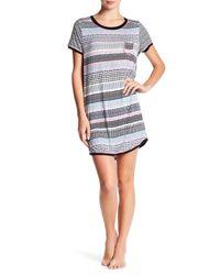 Kensie | Multicolor Short Sleeve Sleep Shirt | Lyst