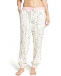 Kensie | Natural Jogger Pajama Pants | Lyst