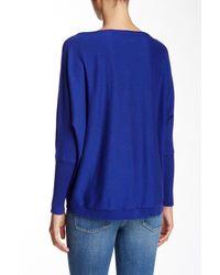 Eileen Fisher - Blue Dolman Sleeve Sweater - Lyst