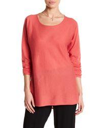 Eileen Fisher | Pink Ballet Neck Cashmere Tunic Sweater | Lyst