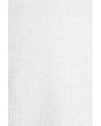 Eileen Fisher - White V-neck Organic Linen Sweater - Lyst