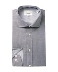 Ted Baker | Black Endurance Trim Fit Dobby Dress Shirt for Men | Lyst