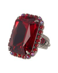 Sorrelli | Multicolor Luxurious Emerald Cut Crystal Cocktail Ring | Lyst