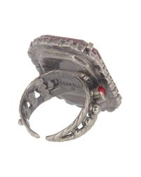 Sorrelli - Multicolor Luxurious Emerald Cut Crystal Cocktail Ring - Lyst