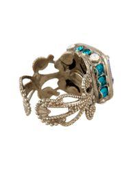 Sorrelli   Blue Petite Swarovski Crystal Emerald Cut Ring   Lyst