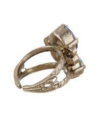 Sorrelli - Blue Assorted Swarovski Crystal Round Ring - Lyst