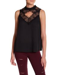 Romeo and Juliet Couture | Black Diamond Cutout Sleeveless Blouse | Lyst