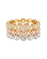 Ariella Collection | Metallic Bubble Stack Rings | Lyst